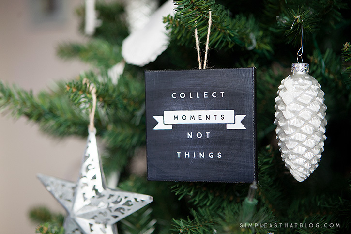 Mini faux canvas ornaments