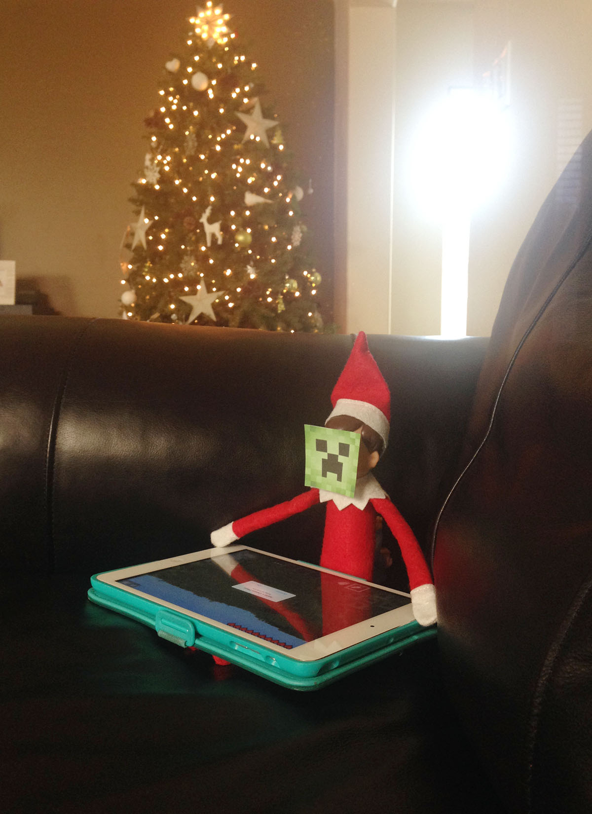 Elf plays a game of Minecraft.