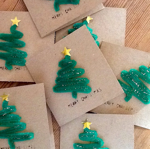 Pipecleaner Christmas Trees