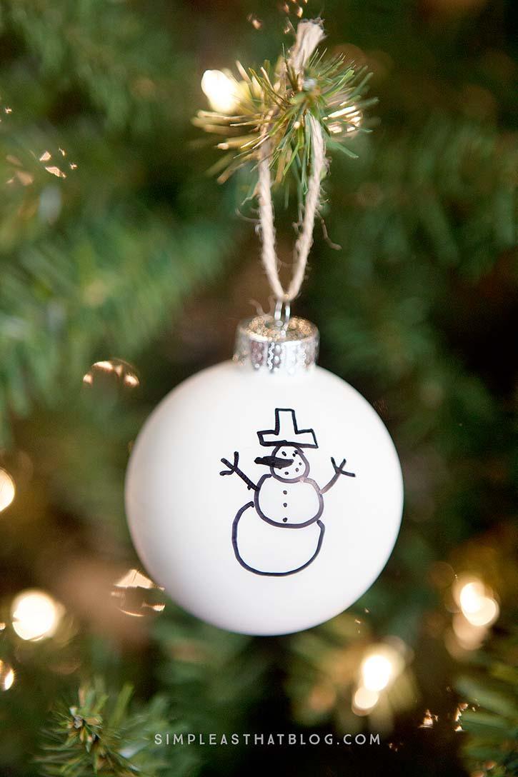 diy children u0027s sharpie art ornaments