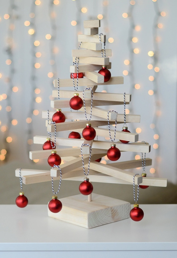 25 terrific christmas tree crafts - Wooden Christmas Crafts