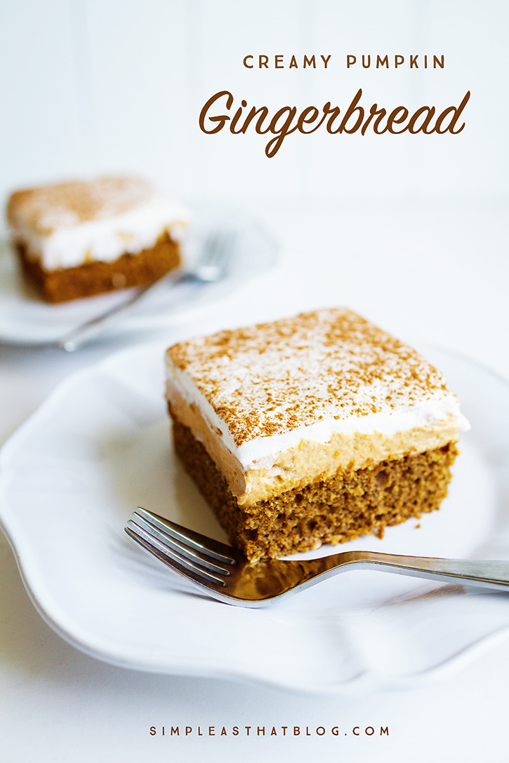 Creamy Pumpkin Gingerbread - simple as that