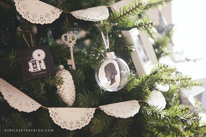 DIY Silhouette Keepsake Ornaments
