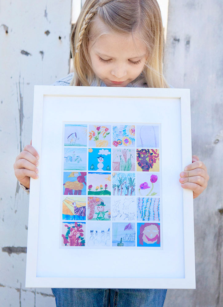 Organize and Display Children's Artwork