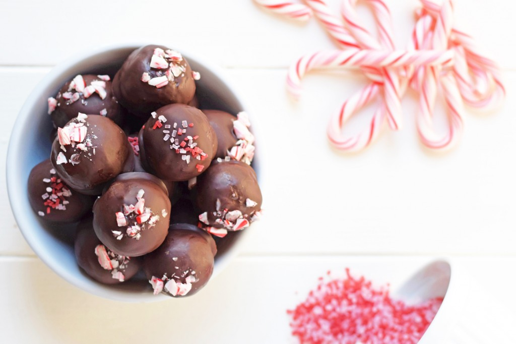 Chocolate Peppermint Truffles - No one will ever guess this decadent dessert is healthy! Made with whole foods and no refined sugar, you can indulge guilt free!