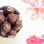 Dark Chocolate Peppermint Truffles