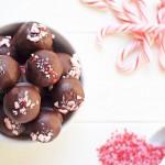 Dark Chocolate Peppermint Truffles