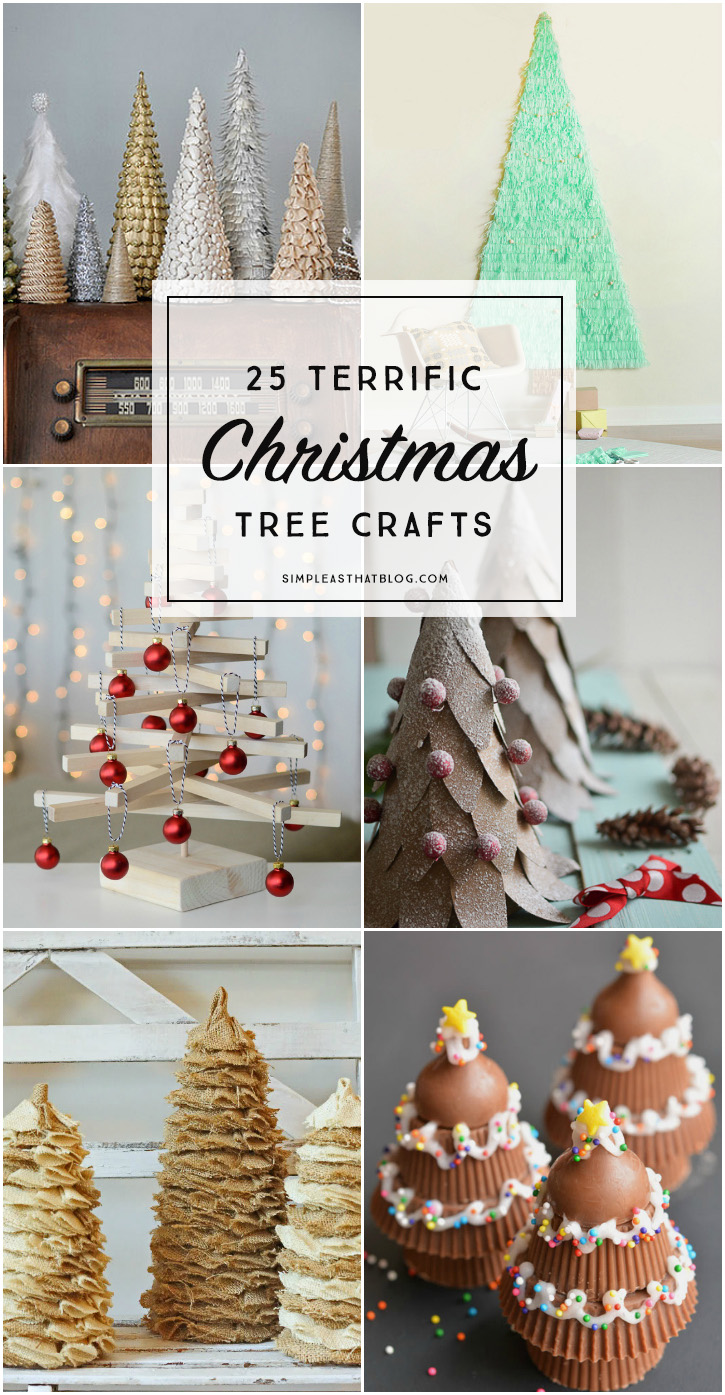 Kids crafts, decor and simple ornaments - there are so many unique and beautiful ways to get creative with Christmas trees this holiday season!