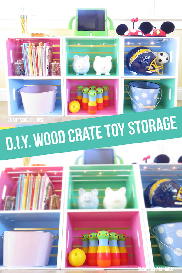 Wood Crate Toy Storage