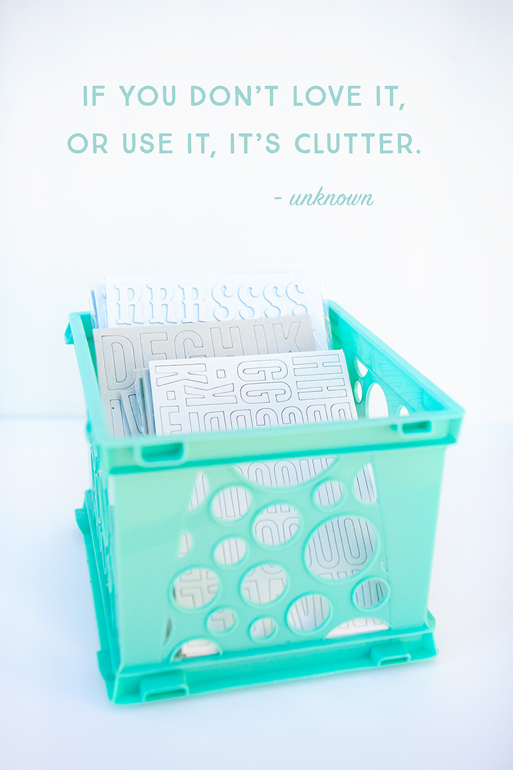 Keep your crafty clutter under control with these simple tips. As you free up your craft space you'll find more room to be creative!
