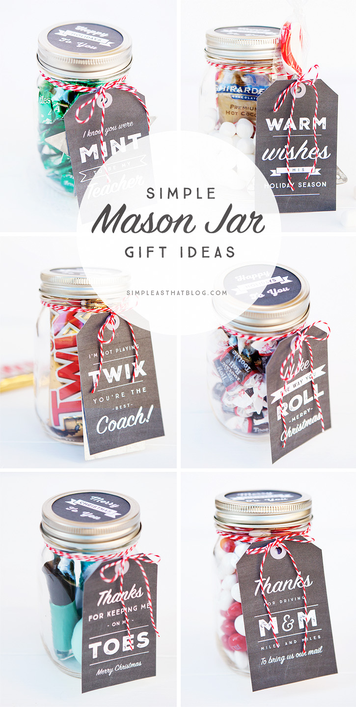 Free Simple Mason Jar Printable Tags