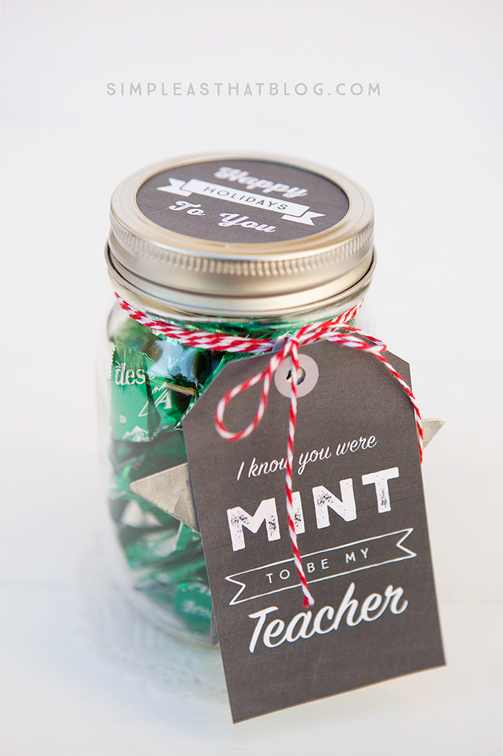 Simple Mason Jar gift for teacher.
