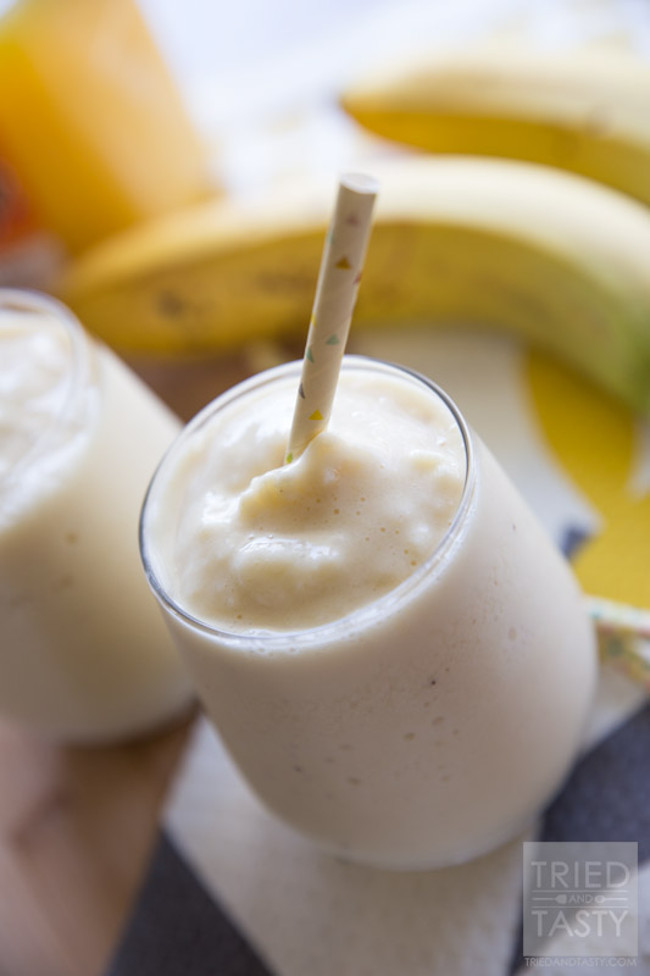 Orange Banana Breakfast Smoothie