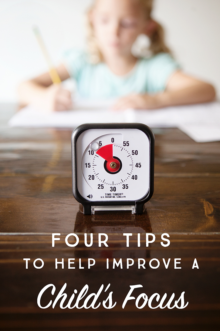 4 Tips to Help Improve a Child's Focus