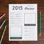 2015 Year in Review Printable for Kids