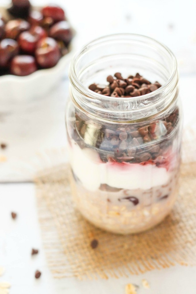 Black Forest Overnight Oats - delicious and ready to go breakfast!