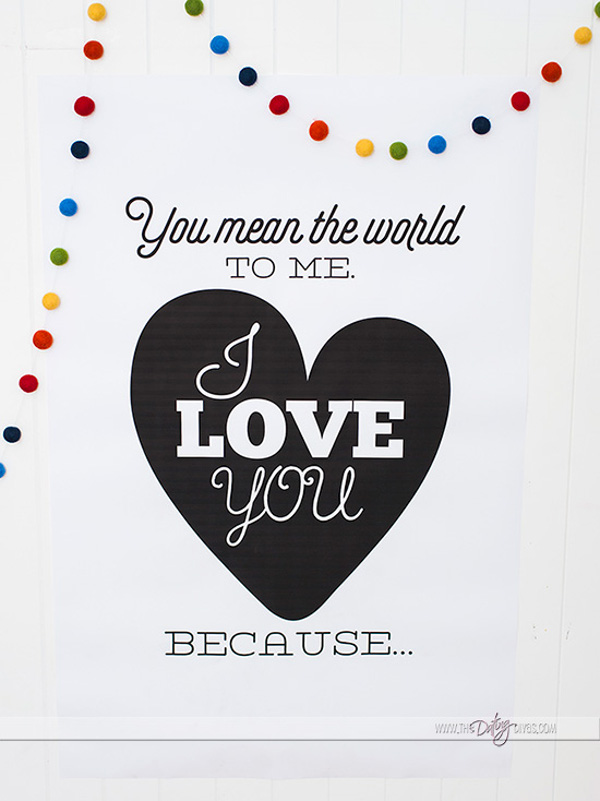 Printable Love You Poster