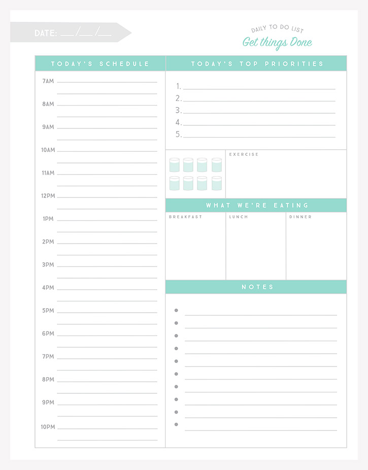 Free organizational printables to streamline your to do for To do planner online