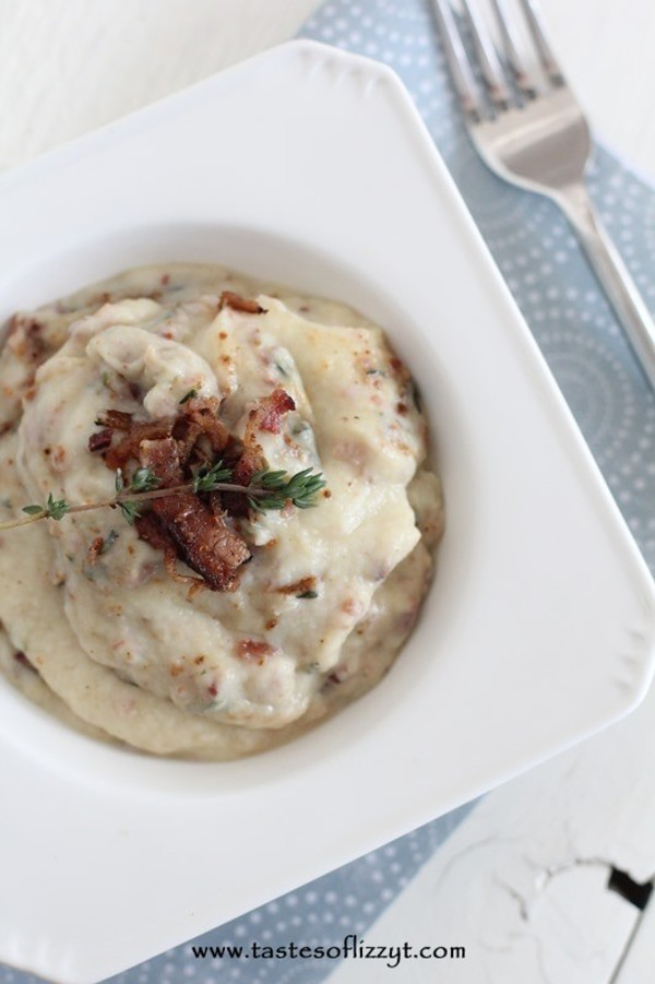 Bacon and Cauliflower Mash