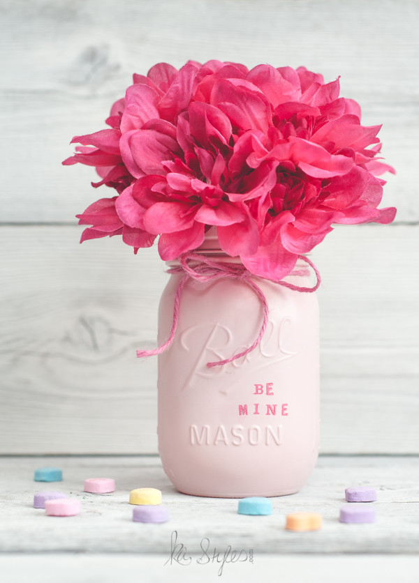 Candy Heart Mason Jar