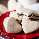 Chocolate Ganache Heart Cookies