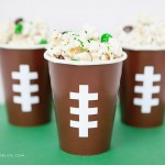White Chocolate Game Day Popcorn and DIY Football Snack Cups