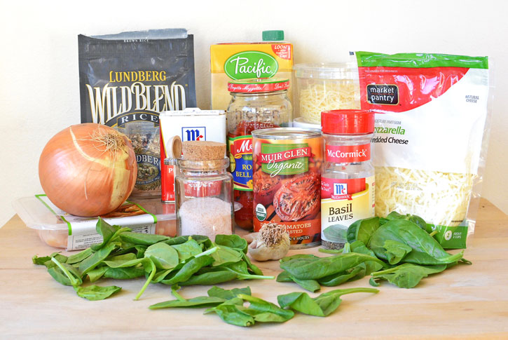 Ingredients for One Pot Italian Chicken and Rice