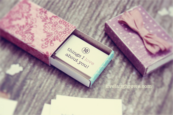 Matchbox with 10 Things I Love About You