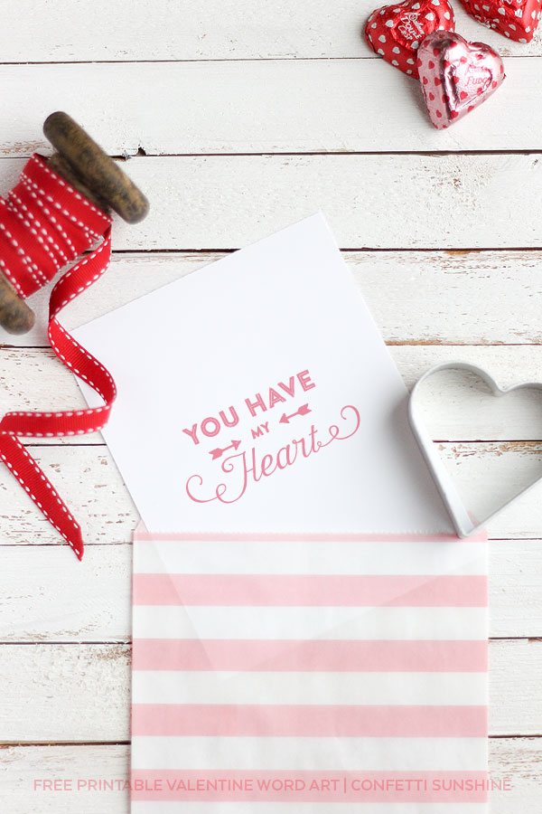 Valentine's Word Art