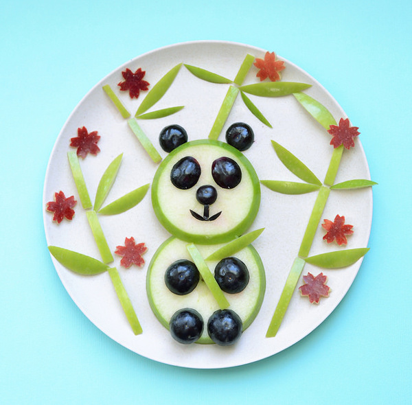 Apple Panda Snack