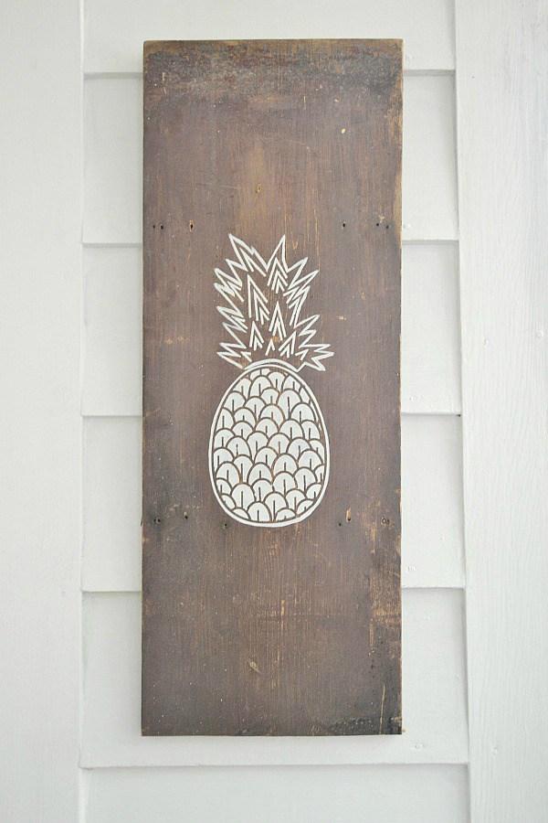 DIY Pineapple Art