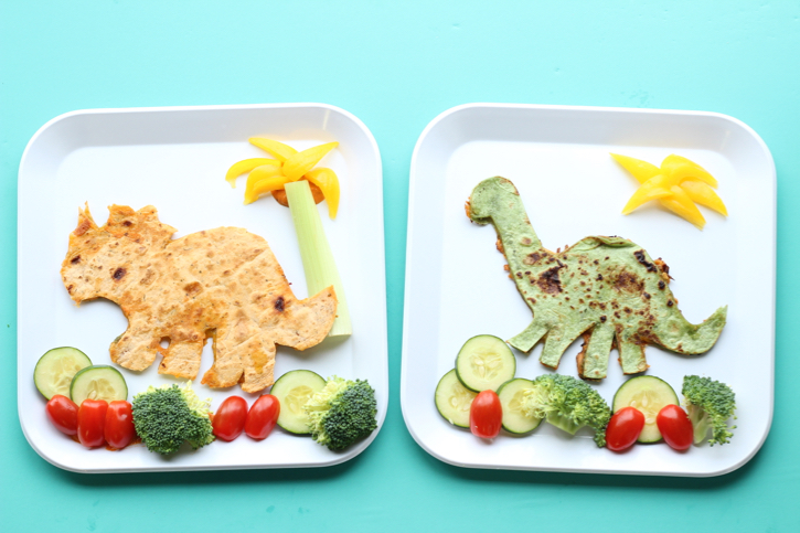 Make lunch a little extra exciting for your little dinosaur lover with this simple dino food art!