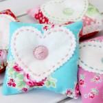 Fabric and Felt Heart Lavender Sachets