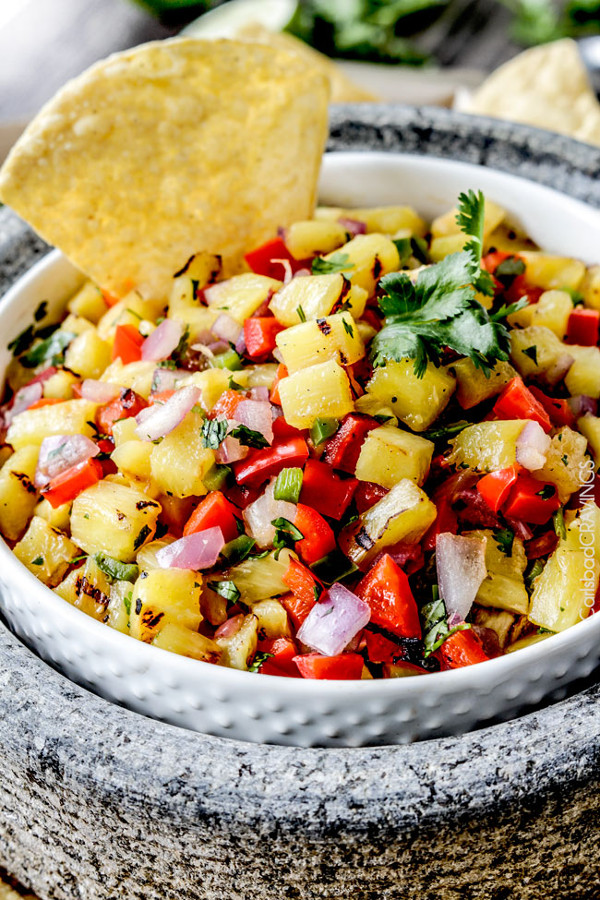 Grilled Pinapple Salsa