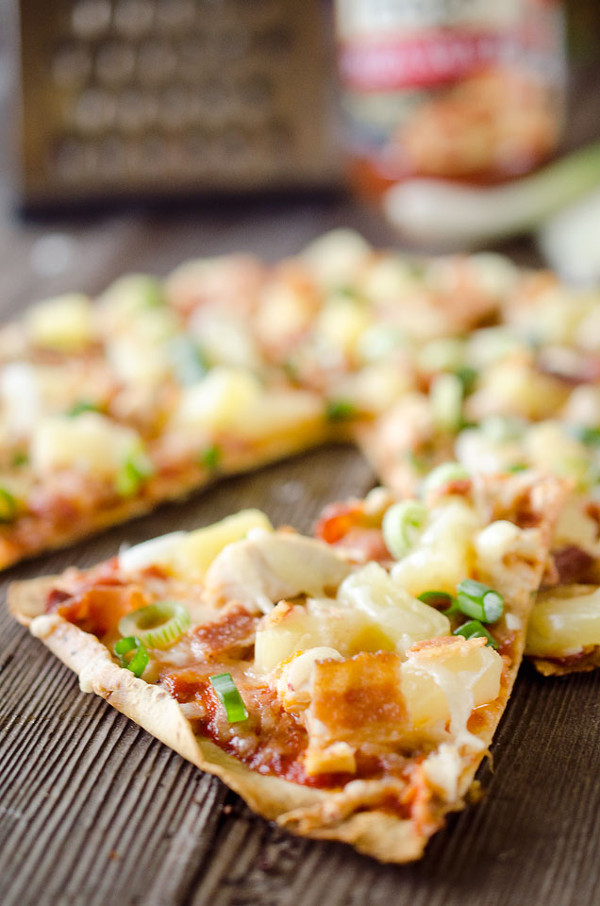 Pineapple Chicken and Bacon Pizza