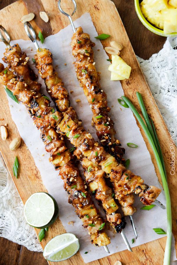 Peanut Pineapple Chicken Satay