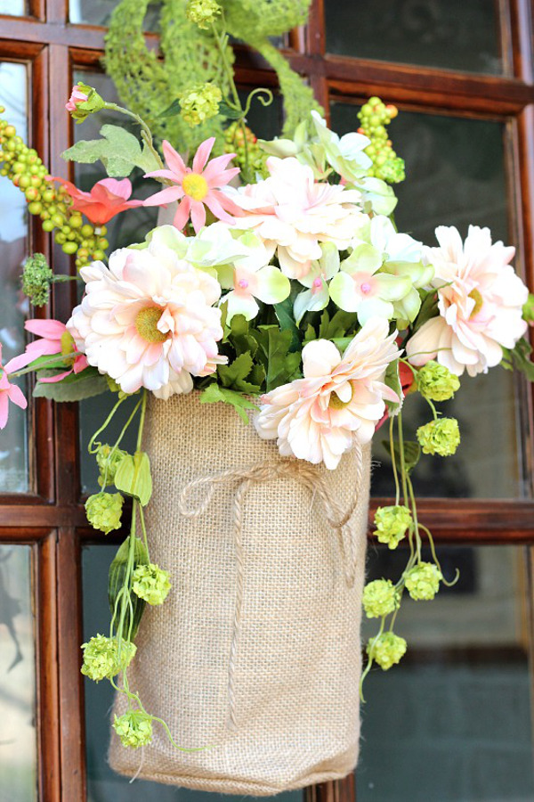 Flowers and Burlap