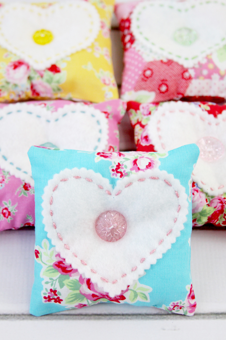 Sweetheart Fabric Lavender Sachets