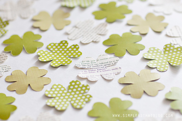 A quick and simple, mess-free paper craft to help get the kids excited about St. Patrick's Day!