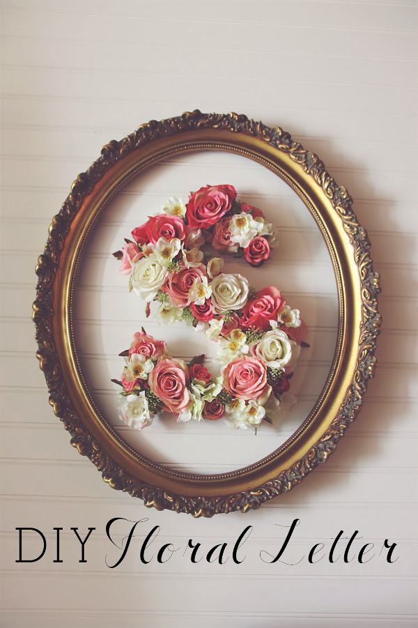 Framed Flower Letter