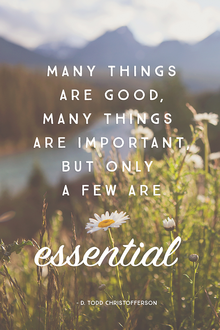 most essential things in life