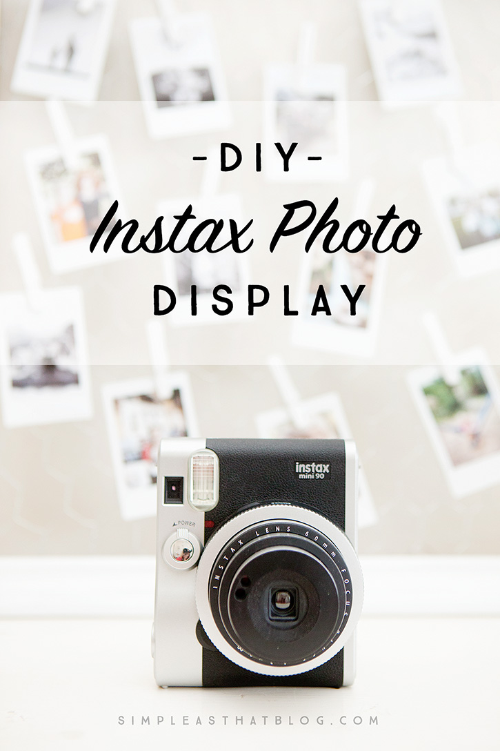 Create a unique, personalized display of instax photos sure to brighten up any tween or teenagers space.