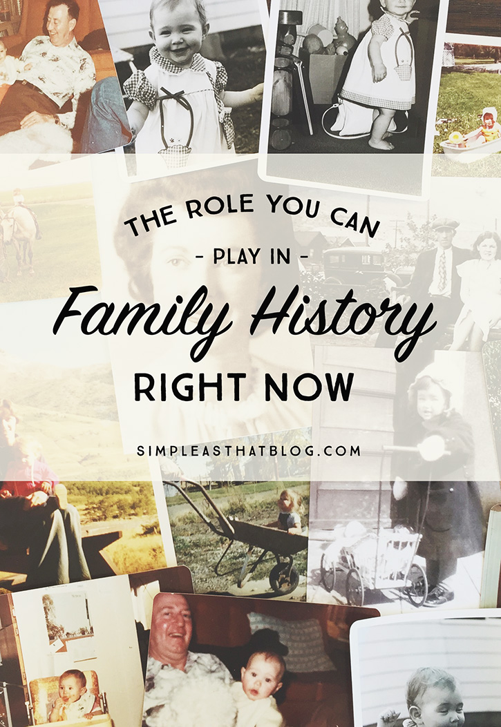 One simple thing you can do to make your family's history exponentially more powerful.