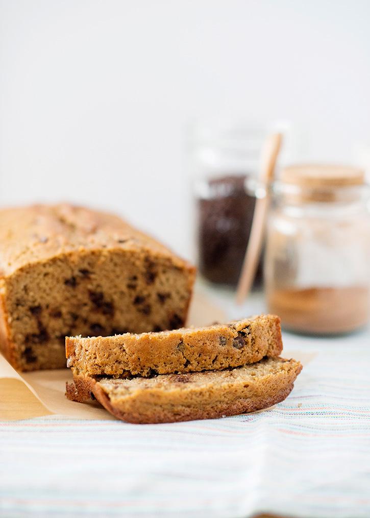 Whole Wheat Cinnamon Chocolate Chip Bread