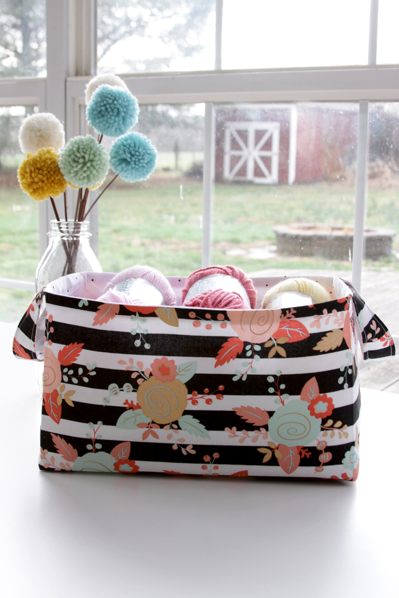 Handmade Fabric Storage Baskets : Quality sewing tutorials fabric basket tutorial from