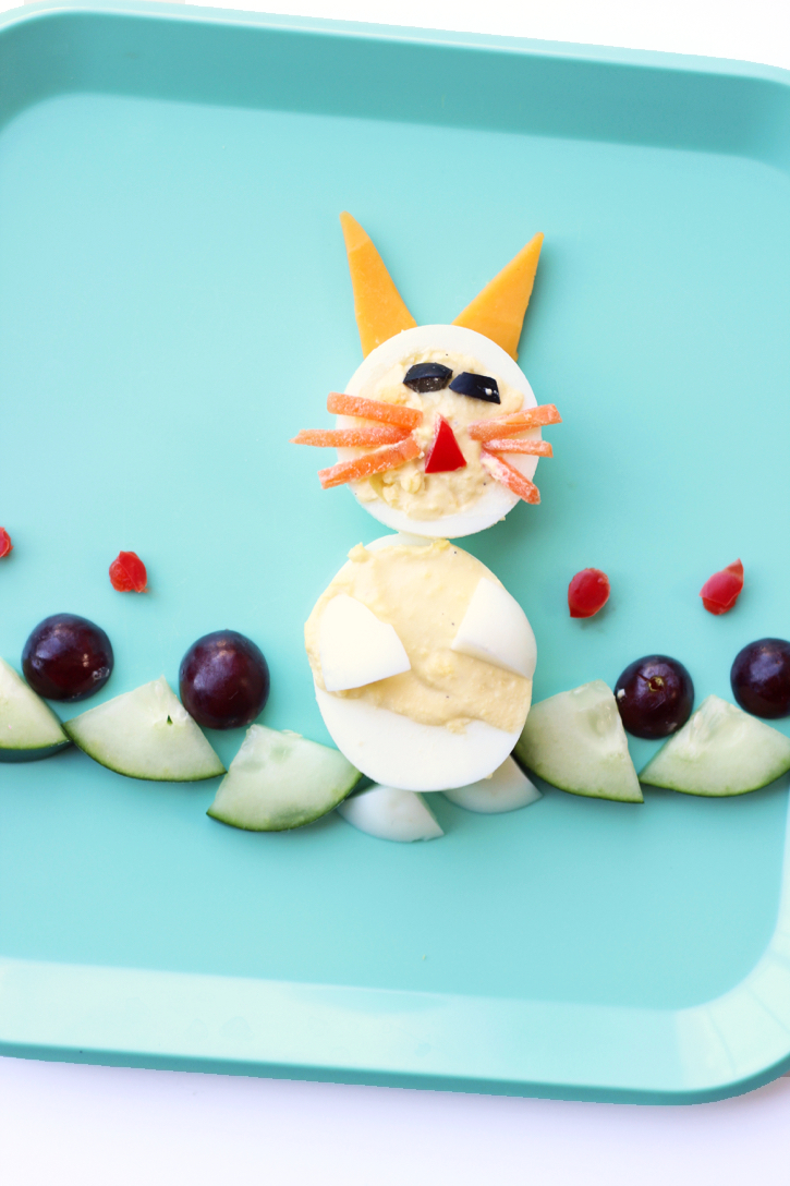 Bunny Food Art - A healthy way to celebrate Spring!