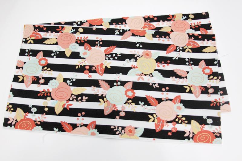 Interfacing on Fabric for Basekt
