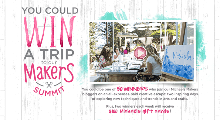 Win a Trip to the Michael's Makers Summit
