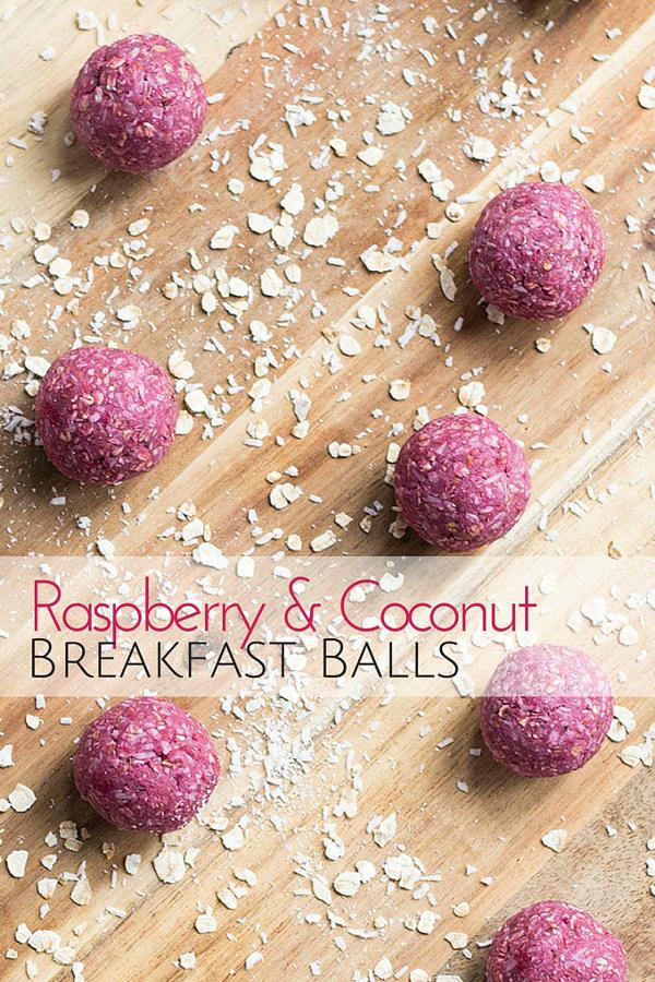 Raspberry and Coconut Breakfast Balls
