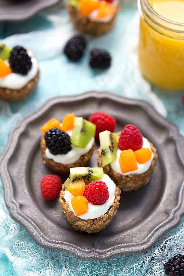 No-Bake Fruit Tarts